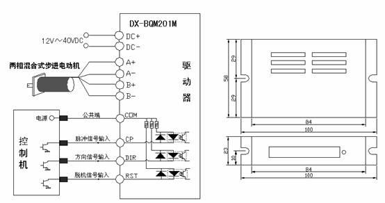 0a  2档电流可选 驱动方式 双极性恒相流pwm驱动 细分精度 1,2,4,8四